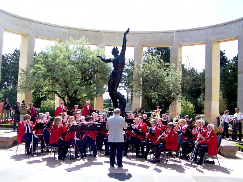 Normandy American Cemetery - Holland American Legion Band 2009