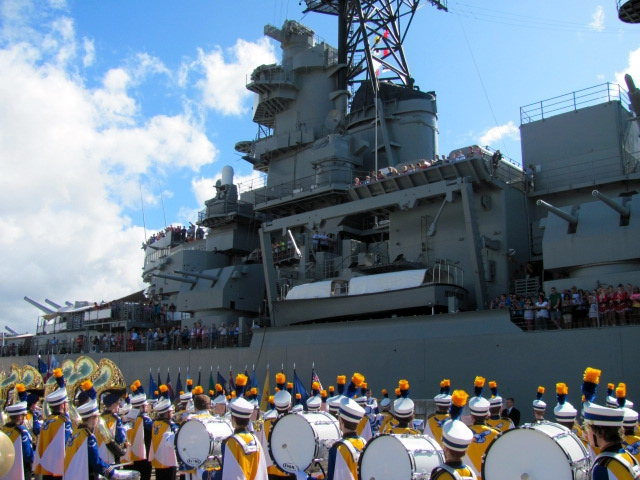 Pearl Harbor - USS Missouri - Carl Sandburg HS 2011