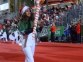 Hollywood Christmas Parade - Color guard rifle portrait layout 2013