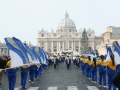 Rome New Year's Parade - Alexis I duPont flags in St. Peter's Square