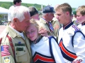 Veteran with Timpview HS student