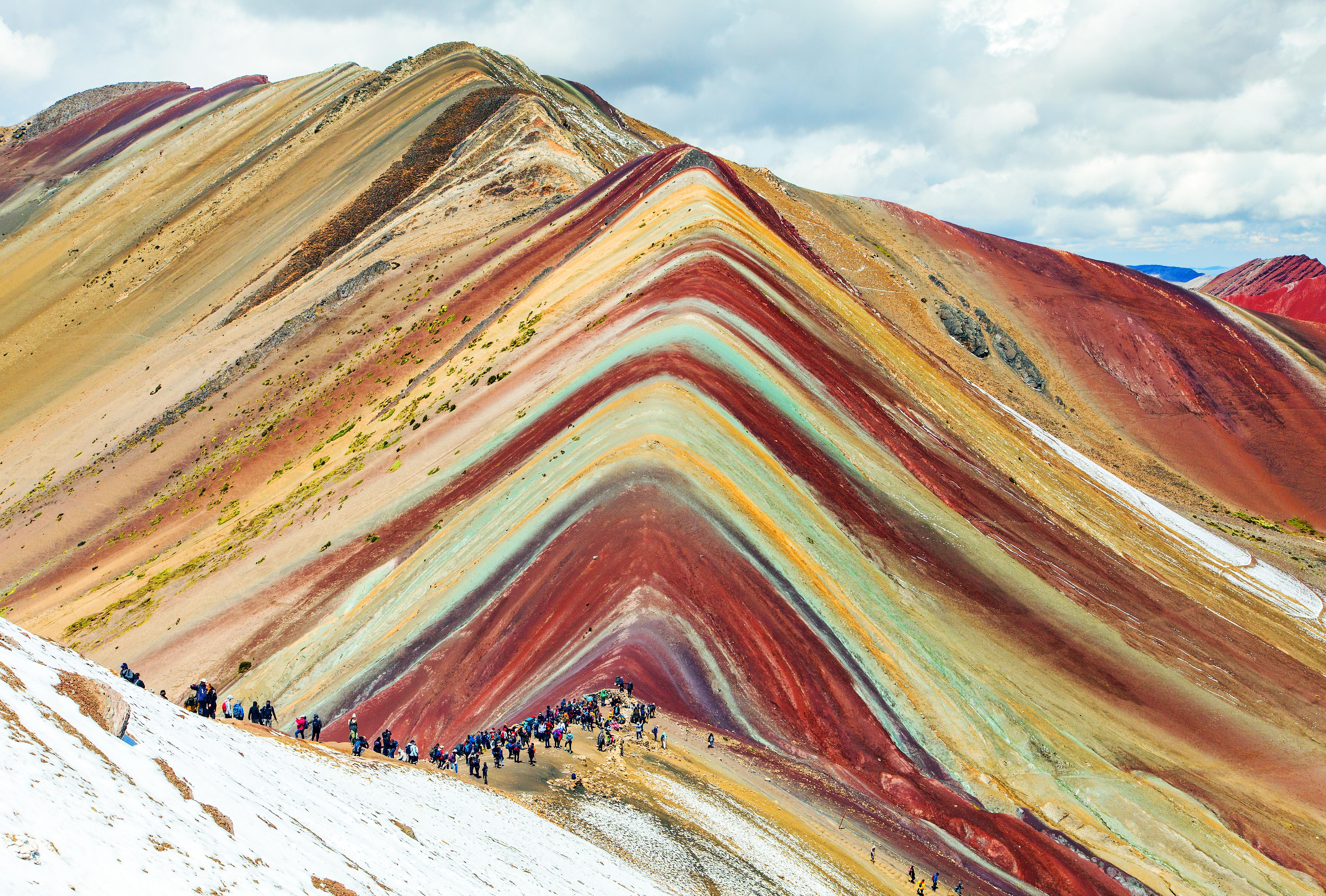 Rainbow mountains or Vinicunca Montana de Siete Colores