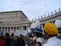 Rome New Year's Parade - band below Papal apartment window