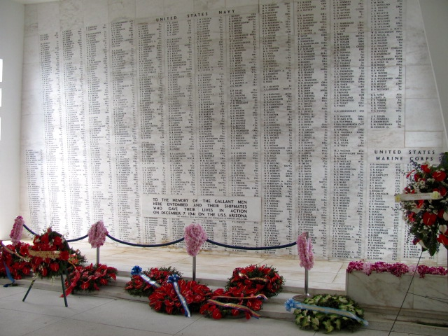 Pearl Harbor - USS Arizona wreaths