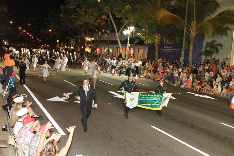 Waikiki Holiday Parade - Carter HS Banner 2013