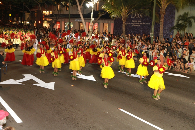 Waikiki Holiday Parade - Dancers 2013