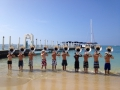 Honolulu - Blue Springs HS Tuba Section on Beach 2012