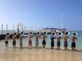 Honolulu - Blue Springs HS Tuba Section on Beach 2012